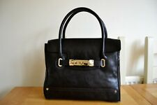 NEW AUTOGRAPH AT MARKS+SPENCER BLACK LEATHER STRUCTURED TOTE LARGE HANDBAG