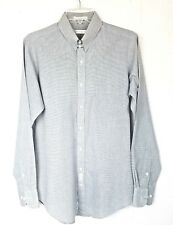GEOFFREY BEENE Gray White Dess Shirt Size 15 34/35 Long Sleeve Button Up