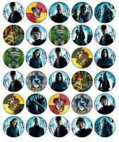 30 HARRY POTTER Cupcake Edible Wafer Paper Birthday Party Cake Decoration Topper