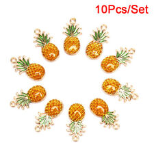 10x/Set Enamel Alloy Pineapple Charms Pendant Jewelry Finding DIY Making CrafYYY