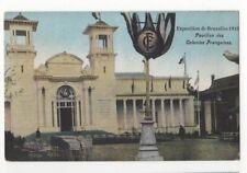 Exposition de Bruxelles 1910 Pavillon Colonies Francaises Postcard Us086