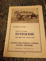 Ea7  Ephemera 1959 advert eustolime Euston lime company Thetford
