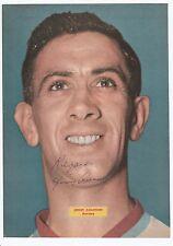 JIMMY ADAMSON BURNLEY 1947-1964 RARE ORIGINAL SIGNED MAGAZINE PICTURE CUTTING