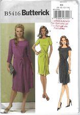 Butterick 5416 Pattern Dress Drape Twist BB 8 10 12 14