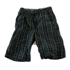 VANS Plaid Shorts Youth Size 26/12 Green