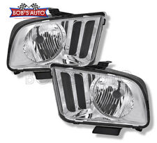 05-09 Ford Mustang Crystal Clear Factory Style Replacement Headlight Assembly