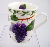 Maxwell & Williams Orchard Fruits Tea Coffee Cup Mug Purple Grapes Bone China