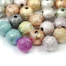 130pcs Acrylic Round Stardust Spacer Beads Mixed Jewellery Findings 6mm EBAR361