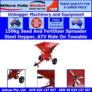 Millers Falls TWM 159kg Tow Behind Rotary Spreader with Steel Hopper