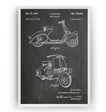 Vespa Scooter 1949 Patent Print - Moped Poster Wall Decor Gift - Unframed