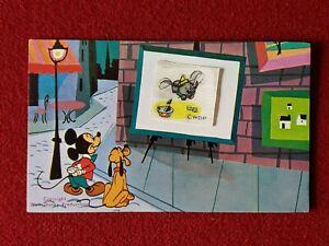 DISNEYLAND MICKEY, PLUTO & DUMBO LENTICULAR VINTAGE POST CARD!