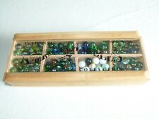 American Marbles Colllection Box With Over 120 Marbles