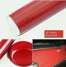 Pellicola Carbonio Rosso Rossa 5D Adesiva 30x100Cm Wrapping Auto Moto Red Vinyl