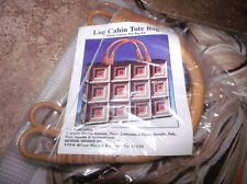 Design Works LOG CABIN Geometric TOTE PURSE Plastic Canvas KIT