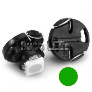 1 Green SMD LED T4.7 Neo Wedge 12v Interior LED Bulb