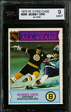 1975-76~O-PEE-CHEE HOCKEY~#288~BOBBY ORR~ALL STAR~HOF~BOSTON BRUINS~KSA 9 MINT