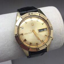 14K Yellow Gold Bulova Accutron 2182 m7 1967 Day-Date Wrist Watch! Tuning Fork
