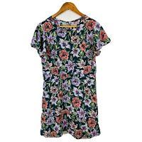 Tokito Womens Dress Size 12 Floral Multicoloured Short Sleeve Sheath Dress