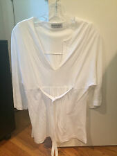 NWOT Michael Stars white long sleeve top shirt tie one size