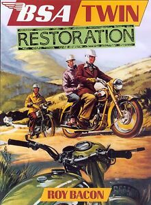 BSA Twin RESTORATION Book by roy bacon A7 A10 A65 650 Gold Flash Free UK Post