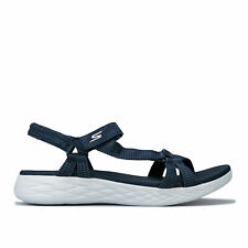 Womens Skechers On The Go 600 Brilliancy Sandals In Navy- Sporty Casual Sandals