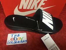 New Nike Men's Ultra Comfort 3 Slide Sandals Black/White/Black AR4494 003