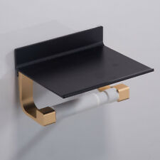 Heavy Loaded Toilet Paper Holder Tissue On Top Bathroom Organizer Black1