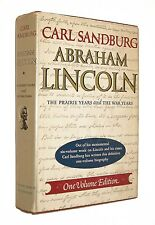 Abraham Lincoln Carl Sandburg Prairie & War Years One Volume Edition HC DJ