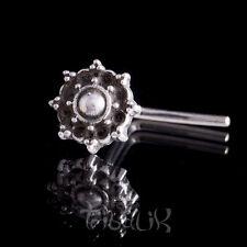 Plata para nariz, Pin de nariz de plata esterlina Mandala, Barra de nariz de plata (código 24)