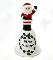 """Vintage 1986 """"Santa's Back"""" Christmas Around the World Ceramic Collectible Bell"""