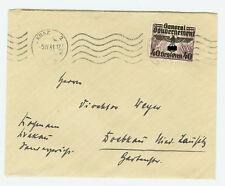 Deutsches Reich Generalgouvernement Brief Bedarfsstück EF mit Aufdruck Michel 31