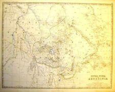 Johnston's Map - UPPER NUBIA & ABYSSINIA -c1865