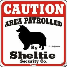 Sheltie Caution Sign