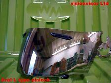 Pinlock Silver Mirror L Type Visor Fits Arai Viper GT Rapide Chaser Profile NR3