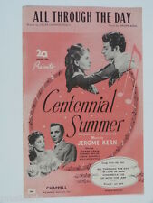 songsheet ALL THROUGH THE DAY / CENTENNIAL SUMMER