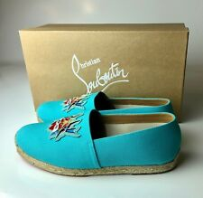 Christian Louboutin Men's Mom and Dad Flat Pacific Espadrilles Euro 42 US 9