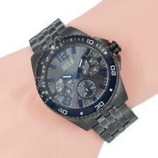 Guess Herren Uhr Chronograph W0594G1 Compass Gunmetal Edelstahl Armband