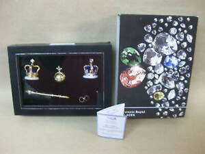 Historical Royal Jewel Collection 7 Piece Coronation Set Miniature Crown Coll..
