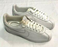 Nike Classic Cortez Leather Premium Entrenadores, Blanco, Reino Unido 5.5