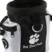 Dog Treat Bag Poo Pouch Bags Holder Dispenser Waist Belt Pet Training Walking MH