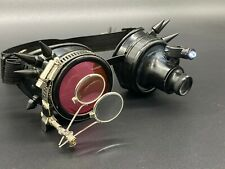 Steampunk Vintage pilot Aviator goggles with Ocular Loupes Lenses motorcycle