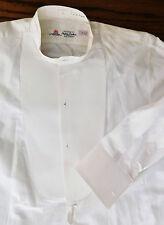 Vintage white dress shirt size 15 Stephens Bros mens evening formal starched