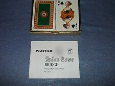 Platnik Tudor Rode Bridge Cards made in Austria and 8 partial bridge talleys