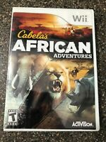 Cabela's African Adventures - Nintendo Wii - Clean & Tested Working - Free Ship
