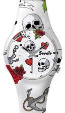 DOODLE WATCH ╬ Armbanduhr Ø 39mm   Silikon > HEARTS & SKULLS > DOTA004