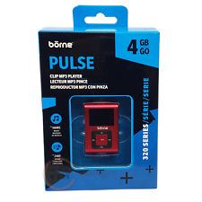 "Borne Pulse 4Gb Mp3 Player (Mp320-4Rd) - Red - Newâ""¢"