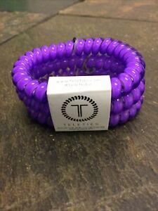Teleties 3 Pack Small Hair Ties Ultraviolet Ponytail Purple