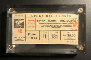 BEATLES TICKET STUB FROM JUNE 1966 ESSEN WEST GERMANY CONCERT – SUPER SCARCE!!
