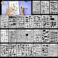 24pcs Bullet Journal Stencil Set Plastic Planner DIY Drawing Template Diary Tool