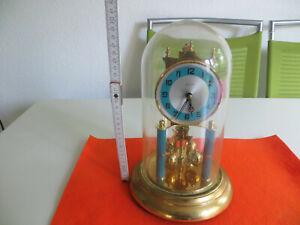 Kern Drehpendeluhr mit Glasdom Tischuhr Kaminuhr mechanisch